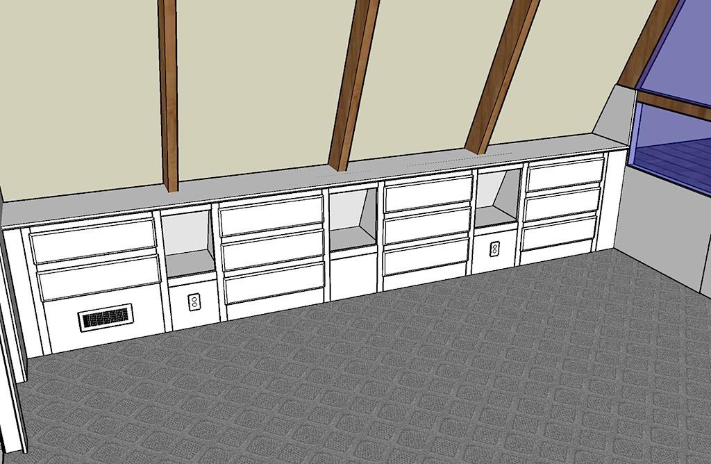 Upstairs Floor Plan   Overall Layout