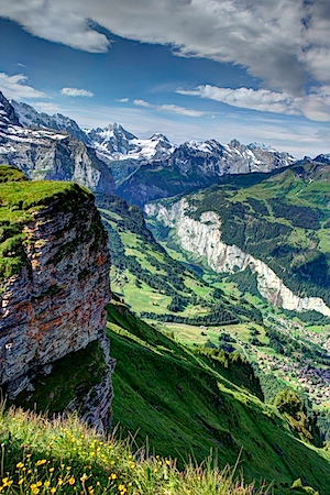 Gimmelwald can be seen dead center in the photo above the huge (gray colored) cliff. Brooke Helppie McFall, remember here?.jpg