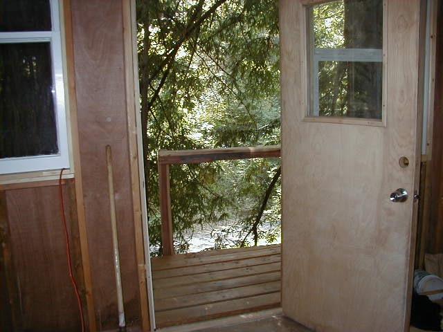 Treehouse inside door