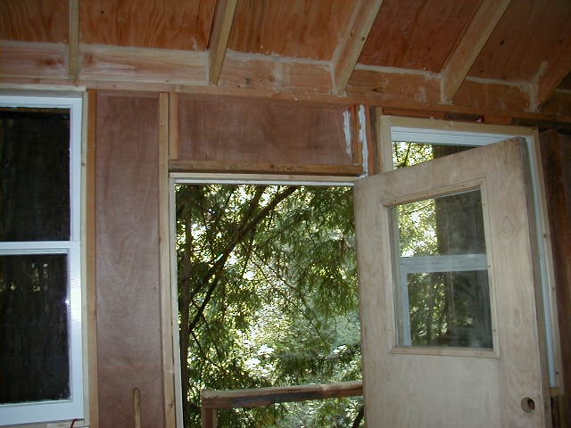 Treehouse inside door above