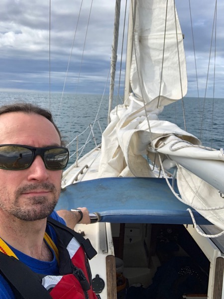 Corbin on the Boat