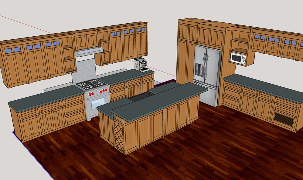 DIY Kitchen Cabinets – The SketchUp Model – Corbin\'s Treehouse