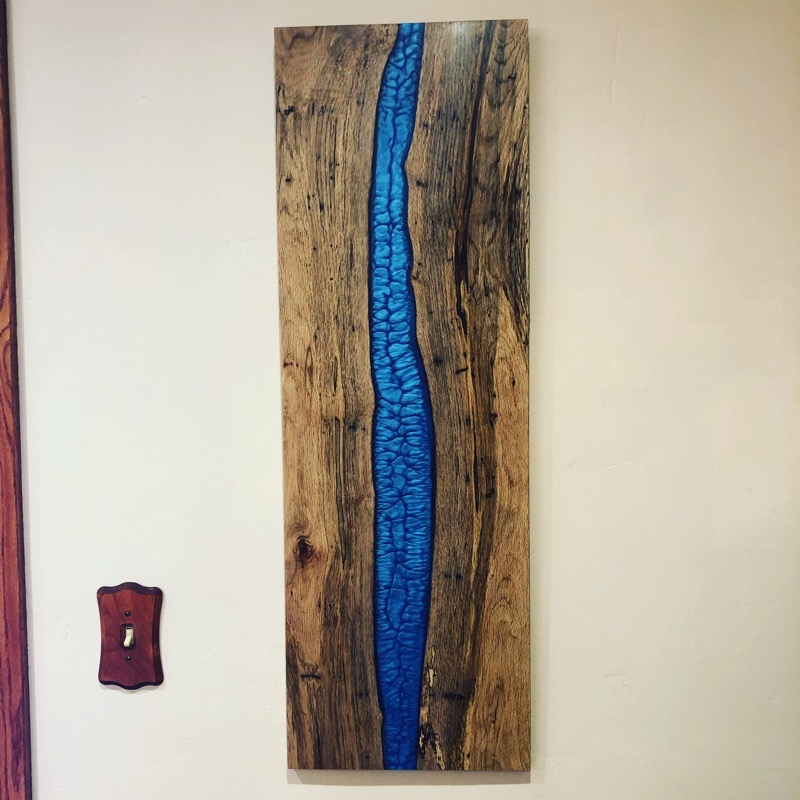 Epoxy resin wall art