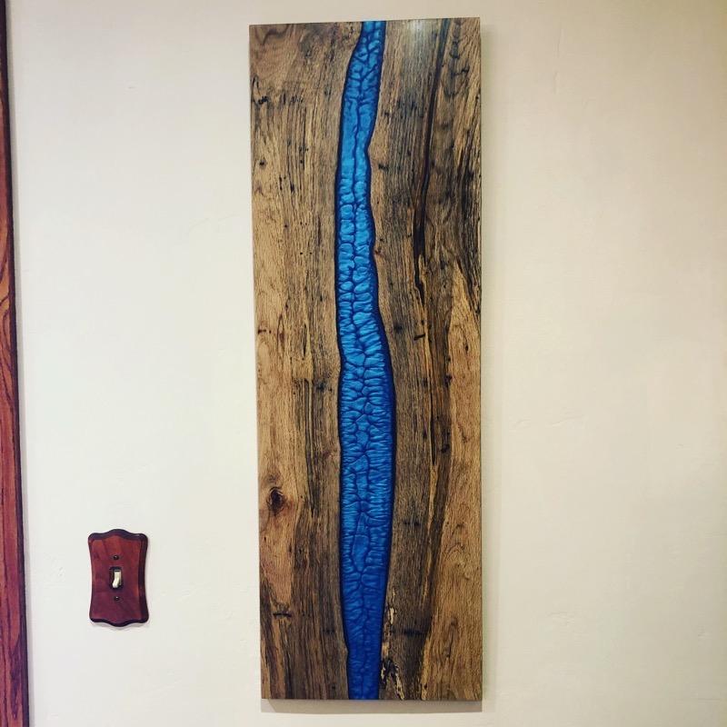 Epoxy resin wall art