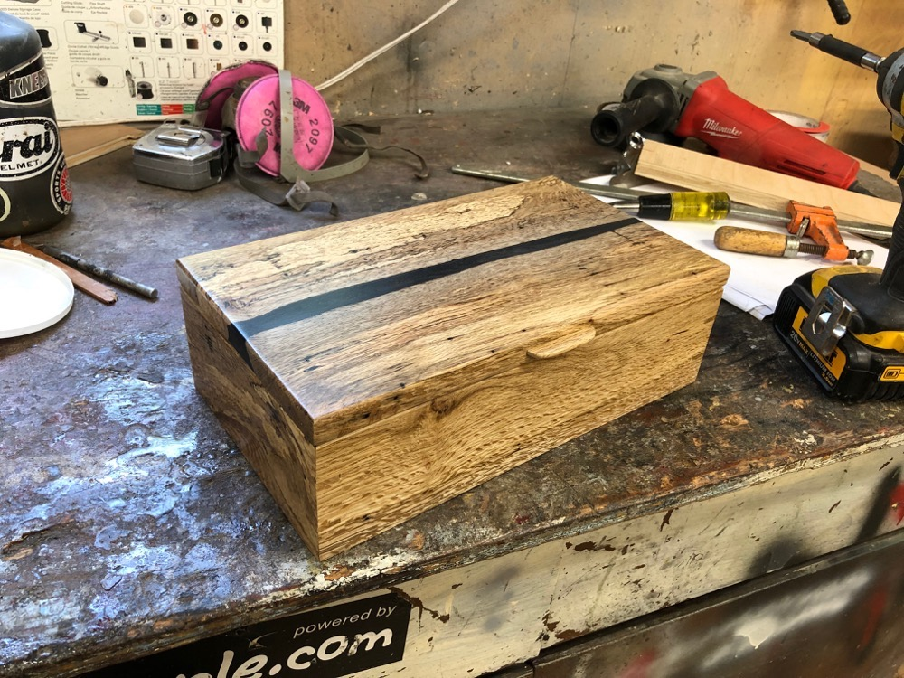 Black river wood box