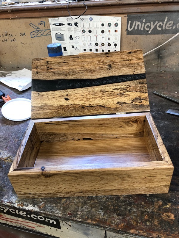 Black river wood box, open