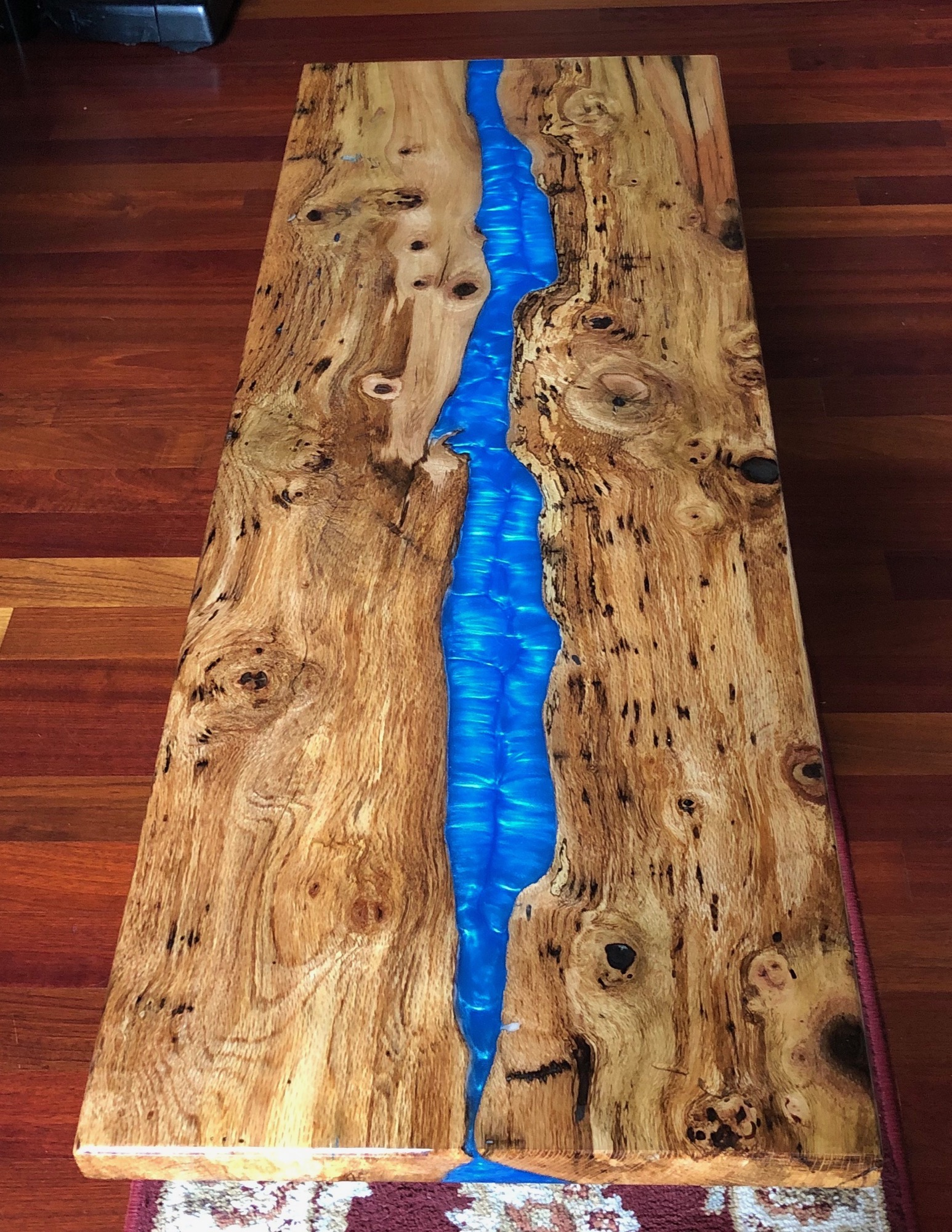 Top view of Blue River coffee table