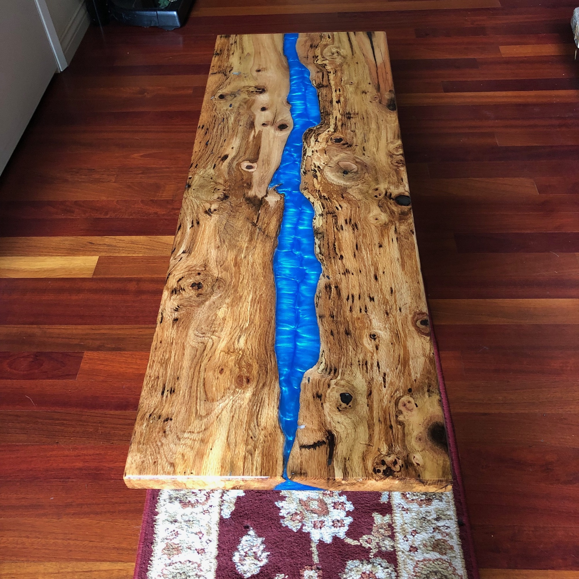 Blue River Coffee Table in Spalted Oak