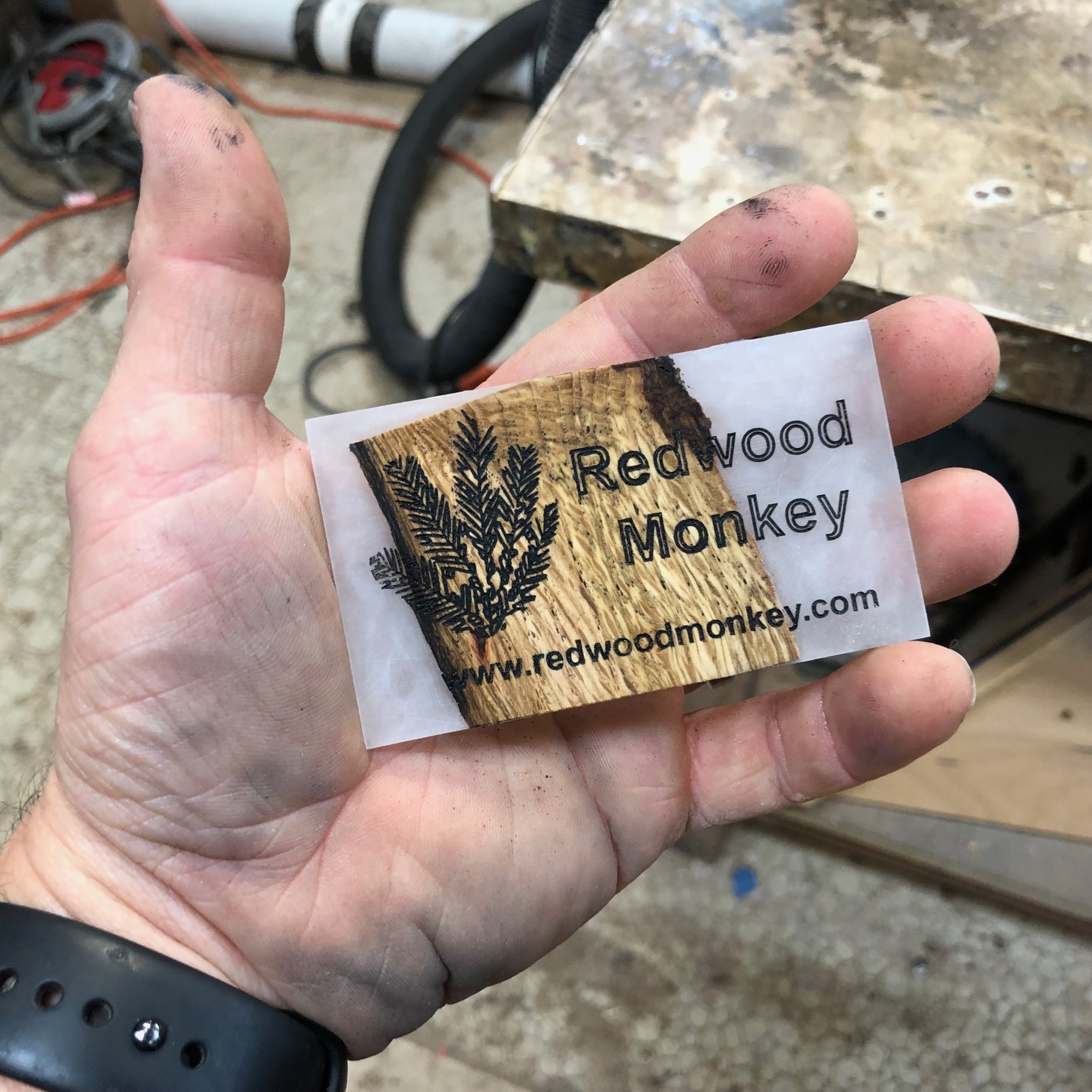 epoxy business card before oil