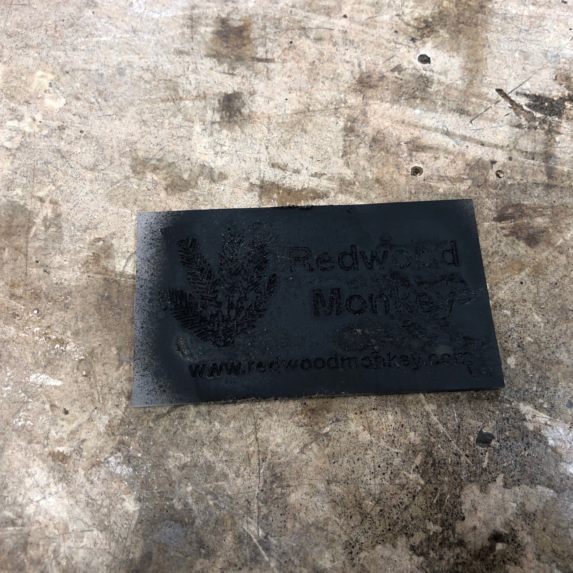 epoxy business card spray painted black
