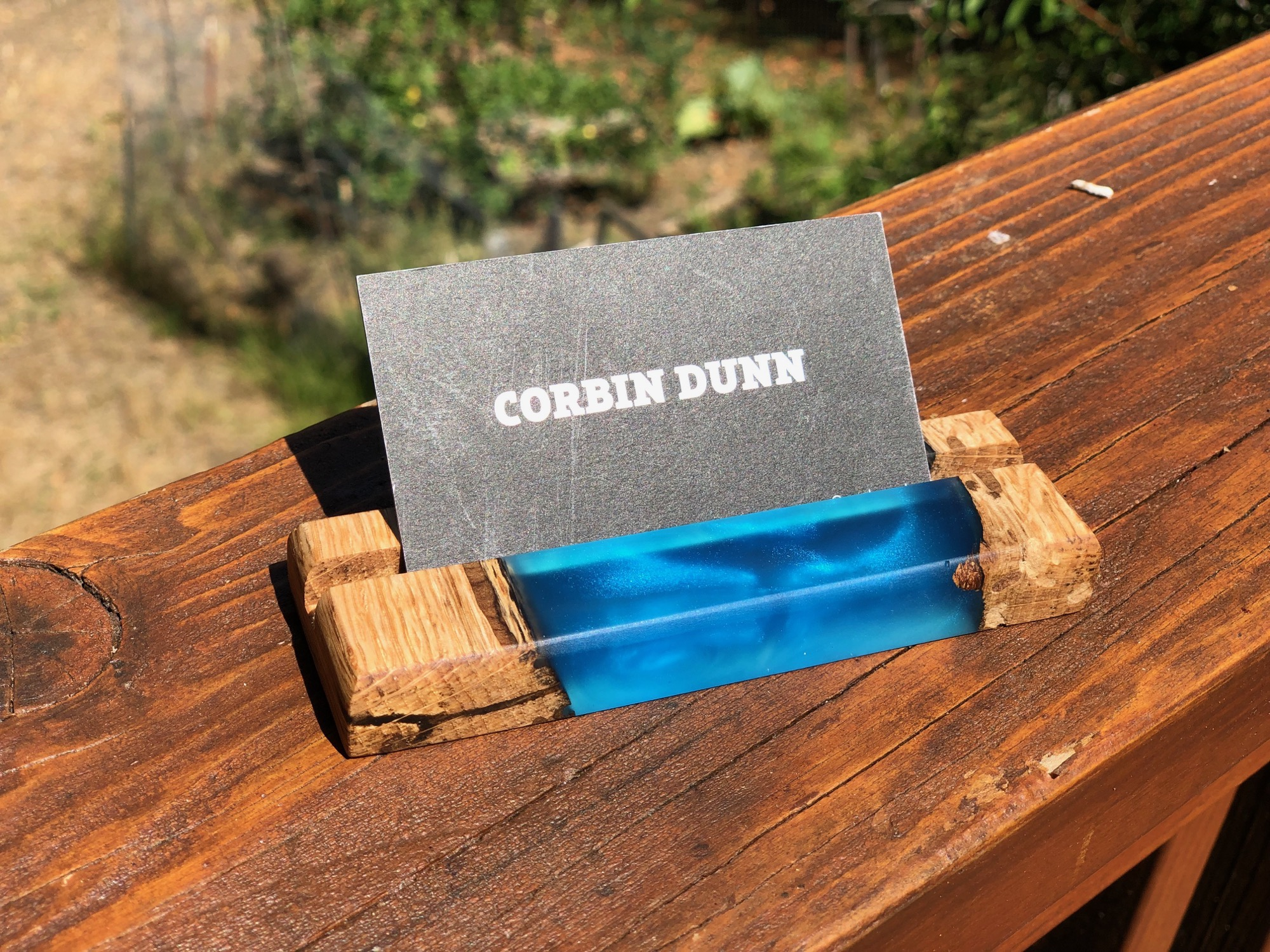 business card holder - epoxy