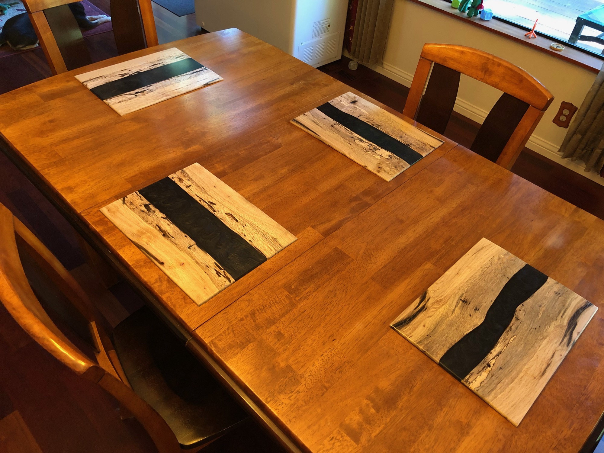 Spalted Oak River Placemats