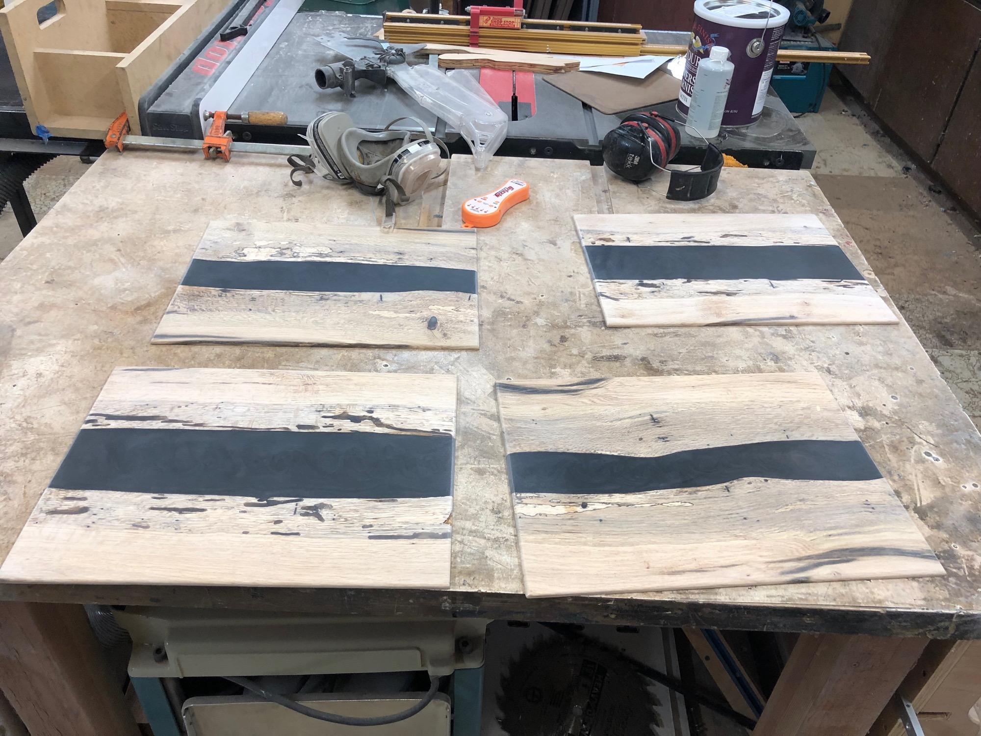 sanded placemats