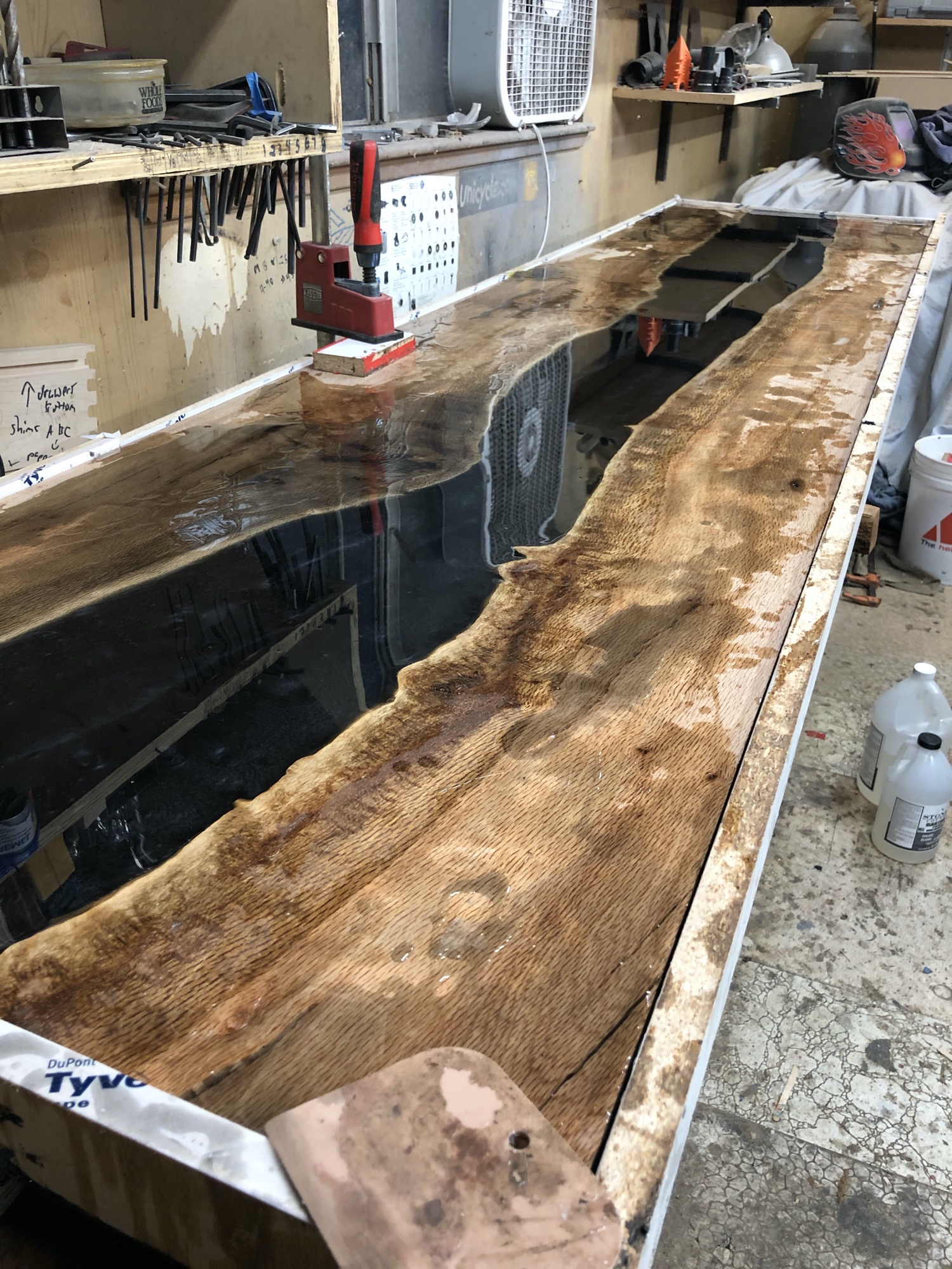 River table curing epoxy