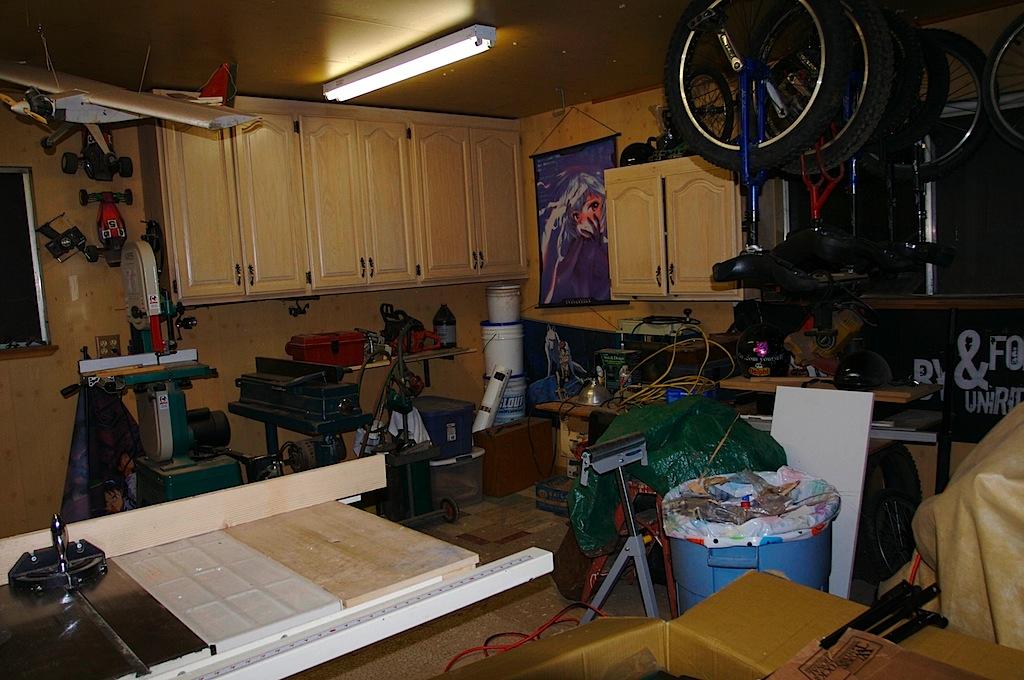 Garage Woodshop Layout